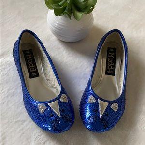 Rare Mudd Cobalt Blue Sequin Mouse Flats Size 6